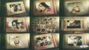 回忆老片子复古时光摄影记录幻灯片AE模板 Travel Photo Slideshow