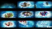 AE模板相册蓝色童话世界冰雪奇缘圣诞节开场 Christmas Opener