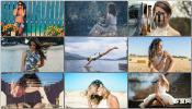 明星时尚模特条纹波浪运动摄影幻灯片包装AE模板 Photoalbum Sli