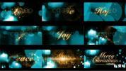 金色文字圣诞节神奇金色粒子魔法动画开场AE模板字幕LOGO