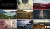 AE模板现代视差玻璃尘埃转场宣传片相册 Parallax Slide – 3 Versi