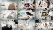 AE模板幸福天堂漂浮家庭纪念相婚礼电子相册Floating Happiness