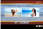 会声会影X8写真相册模板 夏天的浪花 个性写真相册免费下载