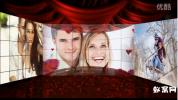 会声会影X8 梦幻相册模板时尚方格相片复合遮罩电子婚礼相