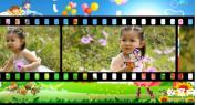 声会影X8写真相册模板 纯真年代 卡通六一儿童节宝宝电子