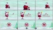AE模板圣诞老人雪中驾驶摩托车搞笑卡通动画模板