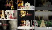 3D立体温馨新年圣诞节镜头运动追踪合成相册图文展示