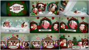 翻书可爱卡通新年圣诞节剪纸弹书相册3D相册展示AE模板