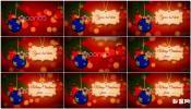 圣诞节新年快乐主题开场视频设计模喜庆红色圣诞主题文字