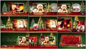 圣诞节翻页弹书回忆相册家庭回忆金色文字AE模板