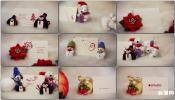 贺卡新年圣诞节贺卡制作AE模板