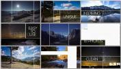 旅行分割转场简洁动态转场组合视频相册时尚图文展示宣传AE