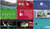 广告时尚字母图标包装社交通讯网络媒体企业宣传LOGO标示