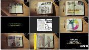 翻书笔记相册回忆日记翻页笔记本绘图插画 The Logbook Mockup