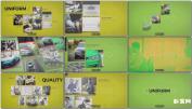 复古动态组合演示幻灯片相册动态AE模板