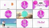 AE模板唯美时尚可爱亲子相册家庭度假旅行视频时尚记录幻灯