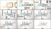 AE模板文字动画标题字幕围绕标志开场动画 LOGO展示