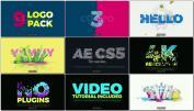 AE模板鲜艳时尚另类章鱼主题标志动画设计LOGO个性设计