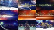 金色文字史诗震撼魔法粒子天空三维字幕圣诞节开场开幕庆