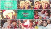 唯美下雪家庭相册亲子相册AE模板雪中圣诞节幻灯片