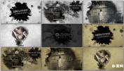 AE模板免费下载中国风复古黑白水墨粒子电影预告片