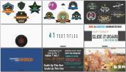 复古徽章标题字幕动画设计模板 Logos&Titles设计元素AE模板