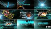 AE模板科幻高科技窗口字科幻电影视频预告片-tron-ignitionAE