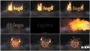 火焰燃烧金属标志燃烧LOGO 标志AE模板 Fire Logo Reveal