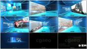 AE模板虚拟舞台空间演示幻灯片产品图片展示Boxes Slide