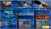 ,维空间体育新闻主持人虚拟演播室AE模板 Virtual Studio Set 2AE