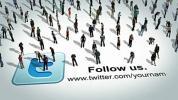 AE模板-社交虚拟人群图标网络宣传 Social People