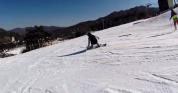 航拍滑雪极限体育运动运动延时拍摄地理景点视频素材