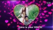 会声会影X6唯美桃心情侣婚礼电子相册玫瑰花瓣主题婚庆模板