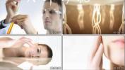 美女模特试验室实验研究化妆品广告高清视频素材