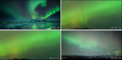 4K超清延时摄影冰川极光4K超清延 北极大自然实拍视频素材