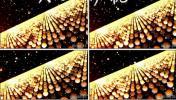 金色光斑1唯美国庆中秋春节晚会活动婚礼酒吧LED大屏背景视