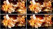 漂亮动态花朵国庆中秋春节晚会活动婚礼酒吧LED大屏背景视