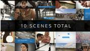 AE模板-画面分割照片视频墙工具包 Preview Video Screen Collage Grids
