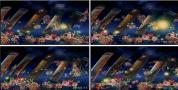 古筝 鲜花 中国元素弹琴晚会节目中国风视频素材
