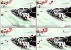 水墨江南水乡 中国风 花瓣飘 视频素材