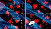 红色动感扑克牌骰子 酒吧晚会 休闲 晚会LED视频素材