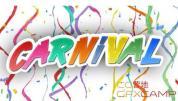 彩条纸屑掉落高清视频素材 Carnival Confetti