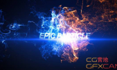 AE模板-大气震撼粒子碰撞游戏电影标题Logo展示 Epic Particle Reve