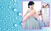 移动变幻出图效果 蓝背 粉色边框 水珠 出图效果 电子相册