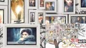 AE模板-室内墙壁相框相册图片展示 Photo Album Tree