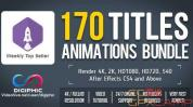 AE模板-简洁商务人名字幕条文字标题动画 170 Titles Animations Bun