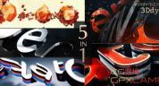AE模板-震撼游戏三维Logo展示 Logo Reveal Pack