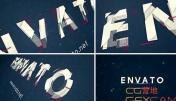 AE模板-二维码马赛克切割组合文字Logo展示 Alphabet Logo Reveal