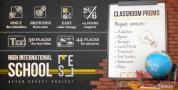 AE模板-教学课程学校黑板课桌图片相册宣传片展示 School Classr