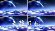 云海底 云层月亮 云海 星空 中秋节视频素材婚礼 晚会视频素